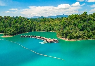 Luxurious Thailand floating bungalow & beach resort stay, Khao Sok & Khanom, Thailand - save 27%