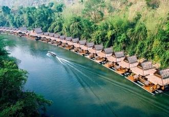 Diverse Thailand trip with city, beach & floating river villa stays, Bangkok, River Kwai & Krabi - save 25%