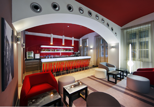 Red blue design hotel prague save up to 60 on luxury for 937 design hotel prague