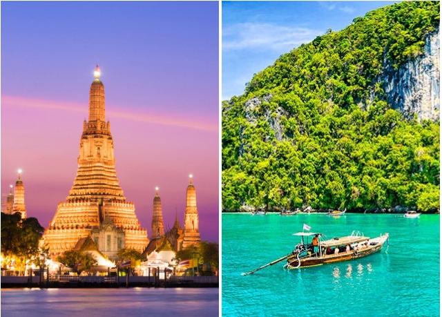 Combiné à la découverte de Bangkok et des merveilles de Phuket