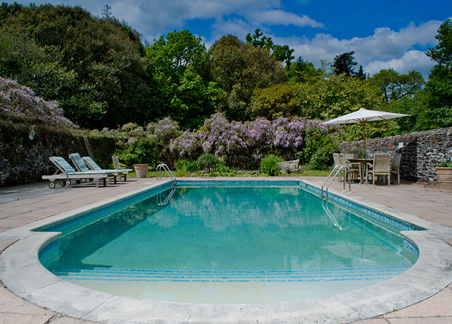 Pentillie castle save up to 60 on luxury travel for Heated garden swimming pools